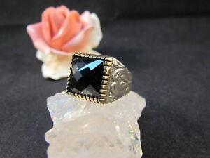 Silberring-Maennerring-Siegelring-Ring-Sterlingsilber-925-Handarbeit-Onyx-Gr-67