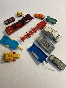 Lote-de-12-Vintage-Decada-de-1970-Matchbox-Gorgi-juguetes-y-Dinky-Toys-Hecho-En-Inglaterra