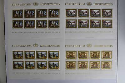 11 N6 Liechtenstein 706-709 Kleinbogensatz Postfr Mw 70,- 4 Bögen Eine VollstäNdige Palette Von Spezifikationen Kompl.