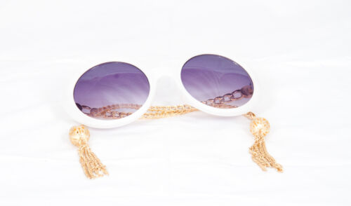 1960 tassel Sunglasses round vintage Sunglasses women/'s classic glasses