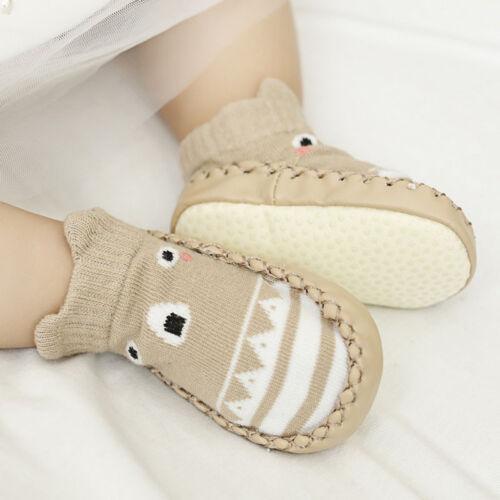 Cute Baby Kids Soft Shoes Toddler Anti-slip Boots Slipper Socks Prewalker 0~18m