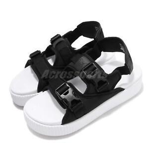 Details about Puma Platform Slide YLM 19 Black White Women Sports Sandals  Shoes 369424-01