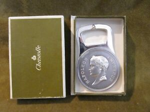 Vintage French Silver-plate Christofle Bottle Opener Napoleon Empereur With Box France