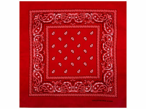 Weiss 3 Halstücher Hals Tuch Schal Baumwolle Schwarz Bandana Dreierset Rot