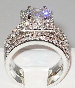 Image Is Loading 3 Ct Princess Cut Cubic Zirconia Platinum Engagement