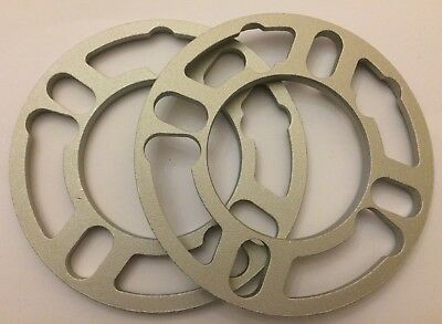 2 X 10mm Shims Universal Alloy Wheels Spacers Fits Chrysler 5x100 N