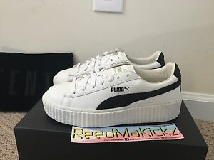 new style 6d381 91dc3 Details about Puma Rihanna Creepers Fenty Cracked Leather Traditional white  Womens sizes