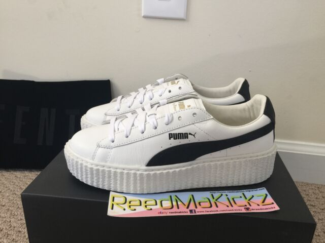 Puma Rihanna Creepers Fenty Cracked Leather Traditional white Womens sizes a90763152