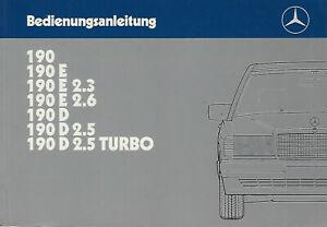 MERCEDES-190-W-201-Betriebsanleitung-1988-Bedienungsanleitung-Handbuch-BA