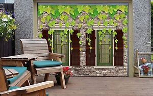 3D-Leaves-Stone-7-Garage-Door-Murals-Wall-Print-Decal-Wall-AJ-WALLPAPER-AU-Carly