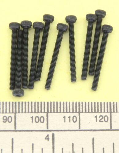 Fastener Nuts pack of 10 M2 x 20 black finish socket head screw ...