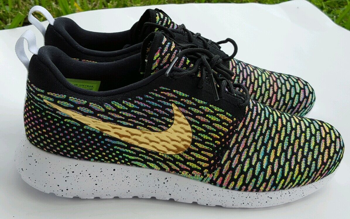 NIKE FLYKNIT MULTICOR ID ROSHE RUN SIZE 9 718293-993 Comfortable and good-looking