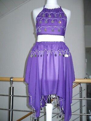 Acquista A Buon Mercato Danza Del Ventre Costume Ragazza Bambini Nuovo 122-134 Lilla- Corrispondenza A Colori