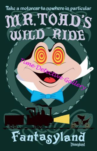 Toad/'s Wild Ride Fantasyland Disneyland Poster Available in 5 Sizes Mr