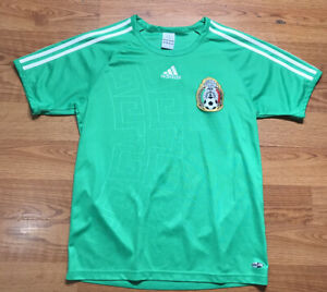 Adidas Mexico Authentic Home National Soccer Team Football Jersey ...