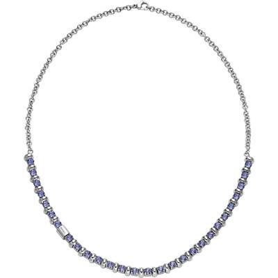 Collana Donna BREIL ROLLING DIAMOND TJ1570 Acciaio Swarovski Viola NEW