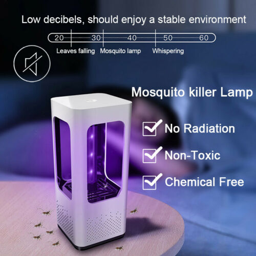 USB LED Light Lamp Fly Insect Bug Trap Practical Electric Mosquito Killer Zapper