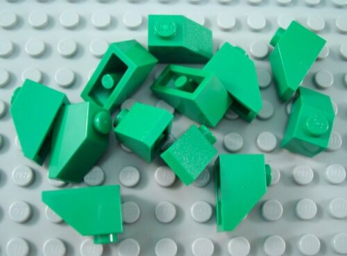 LEGO Trans Neon Green Cone 1x1 Lot of Ten