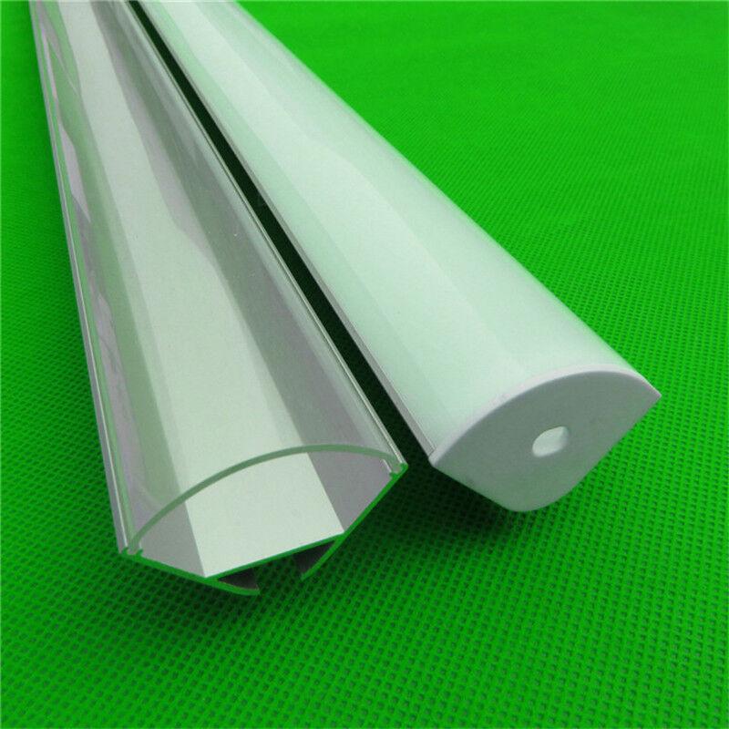 7 un. 2m de Perfil de aluminio de 45 grados de esquina para tira de 20mm Con Cuerda Colgante
