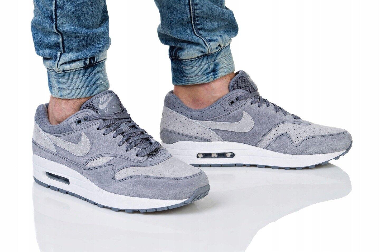 Nike Air Max 1 Premium Cool Grey White Size 7 Eur 41 875844-005