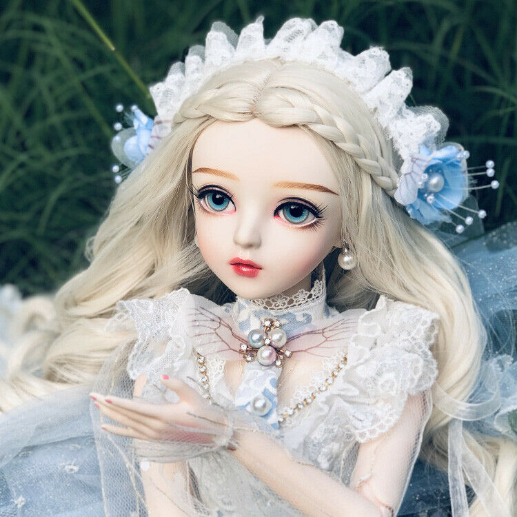 60cm BJD Doll 1 3 Ball Jointed Doll Handpainted Makeup Dress Full Set Gift Toy