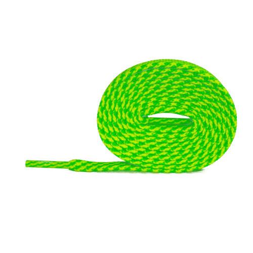 Lacets Plats Néon vert-jaune néon 75cm-120cm Polyester indéchirable 899 Laces