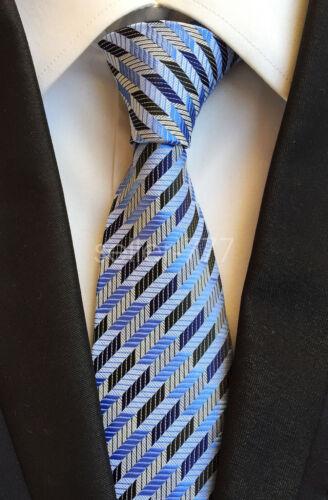 Elgance Fashion Mens Silk Tie Necktie Colorful Striped JACQUARD WOVEN Neck Ties