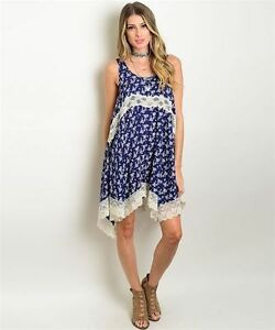 f0a5467b95f Image is loading New-Flying-Tomato-Navy-Floral-Dress-With-Lace-