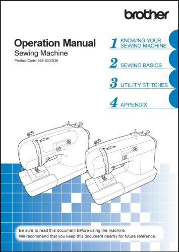 Brother CS-6000i Sewing Machine Operation Instruction Manual