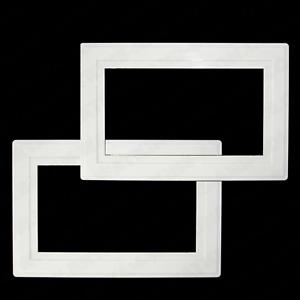 2 X Blanc Doigt plaques Interrupteur De Lumière Double prise de courant Surround panel cover