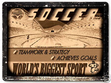 SOCCER stadium METAL SIGN collectible SPORTS vintage style wall decor art 144