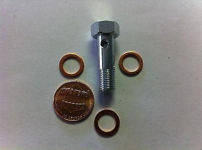 """Banjo Line ID 4 mm Bolt head 12mm 3//16/"""" 8 X 1mm Thread bolt /&  washers"""