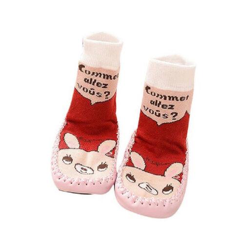 Bébé Enfant Chaussette Chausson Chaussures Landau Antidérapante Souple Cadeau NF