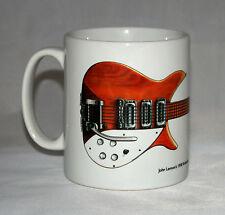 Guitar Mug. John Lennon's natural wood 1958 Rickenbacker 325 Capri illustration.
