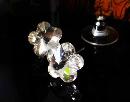 Ohrstecker Crystal Blume 1 Paar Kristall 6x6x6 mm klar Ohrringe Ohrschmuck