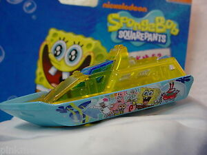 2013-SpongeBob-Squarepants-RESCUE-BOAT-Blue-amp-Yellow-New-Loose-Matchbox