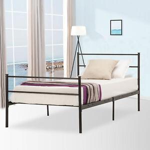 Twin-Size-Platform-Metal-Bed-Frame-Foundation-Headboard-Furniture-Bedroom
