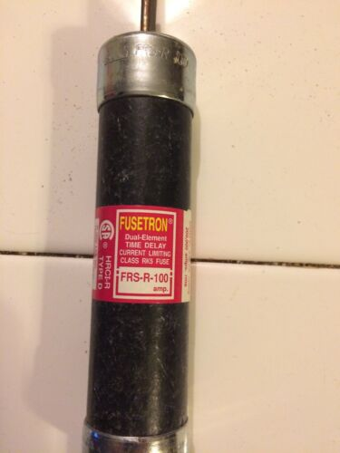 FUSETRON FRS-R-100 DUAL ELEMENT FUSE 100 AMP 600 VOLTS