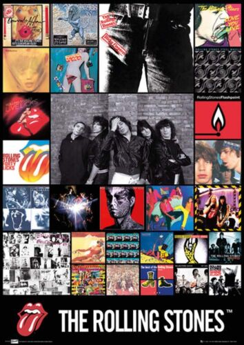 Official The Rolling Stones Discography Maxi Poster 91.5 x 61cm Band Mick Jagger