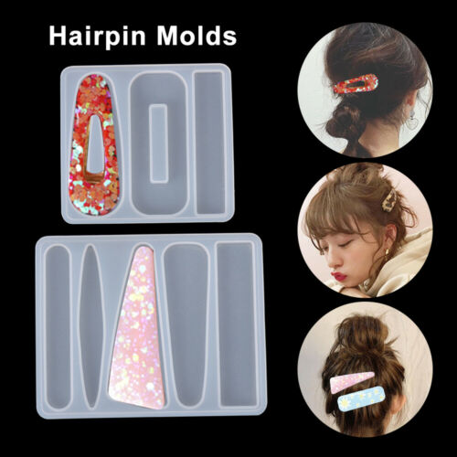 DIY Silicone Resin Epoxy Mold Hair Clip Barrette Jewelry Making Casting Tool