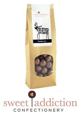 500g Reindeer Poo - Premium Milk Chocolate Covered Raspberries - Christmas Gift