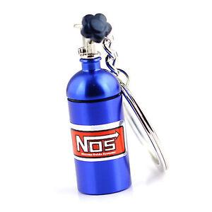 NOS Mini Nitrous Oxide Bottle Keyring Stash Pill Box Storage Turbo Keychain