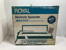 Royal Electric Typewriter Alpha 600p Tested Working Manual And Box