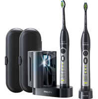 Philips Sonicare Flexcare Whitening Edition Rechargeable Toothbrush 2 Pack Black