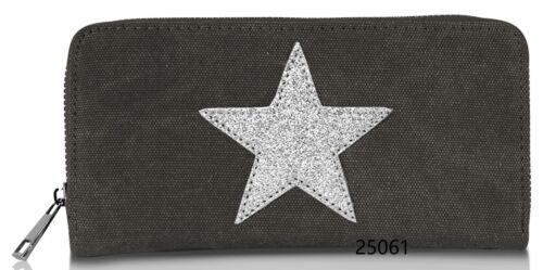 Glamexx24 Geldbörse mit Stern Muster Damenportemonnaie  Brieftasche