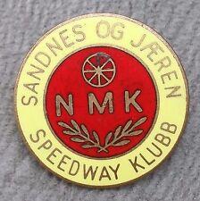 Enamel Speedway Klubb NMK Pin Badge Sweden Sandnes Og Jaeren Supporter