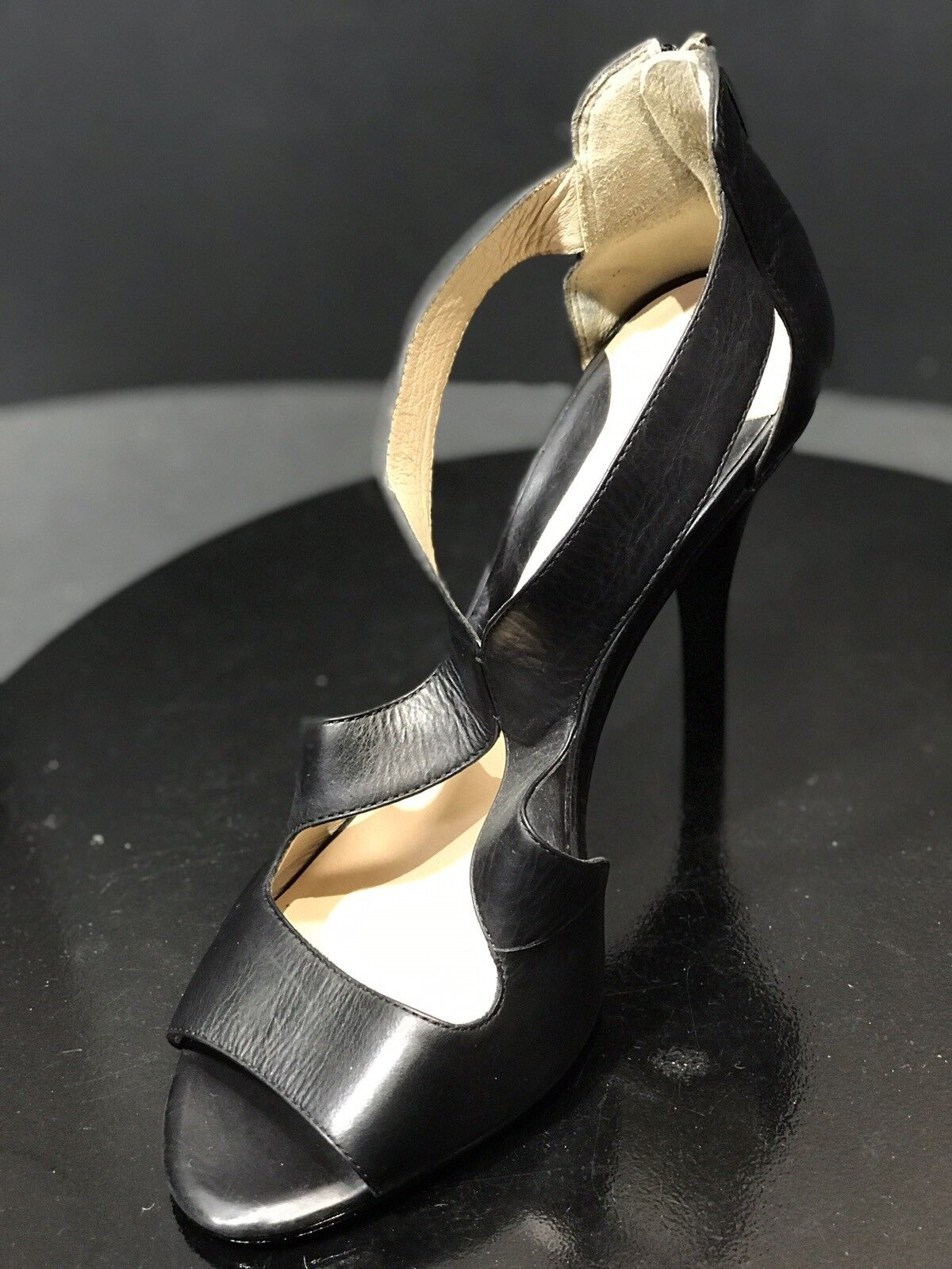 New New New Carolinna Espinosa CEA CHARLESTON Black Leather Sandals  Size 8.5M RTL  275 20dba5