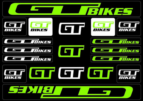 GT Bicycle Bike Frame Decals Sticker Adhesive Graphic Set Vinyl Aufkleber Green