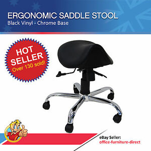 Image is loading Saddle-Stool-Chair-Ergonomic-Office-Seat-Dentist-Vet-  sc 1 st  eBay : office stool ergonomic - islam-shia.org