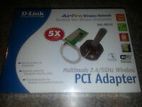 D-link Airpro Wireless Network Dwl-ab520 - Multimode 2.4/5 Ghz Pci Adapter
